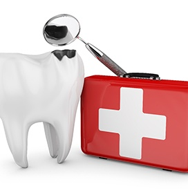 Decated tooth and medical kit for dental emergency in Brampton, ON