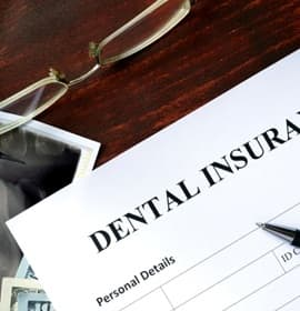 paper that says 'dental insurance'
