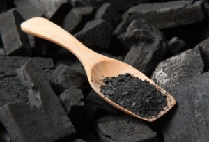 spoon with activated charcoal